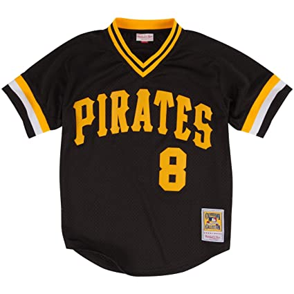 9a839588d Willie Stargell Black Pittsburgh Pirates Authentic Mesh Batting Practice  Jersey 5XL (64)
