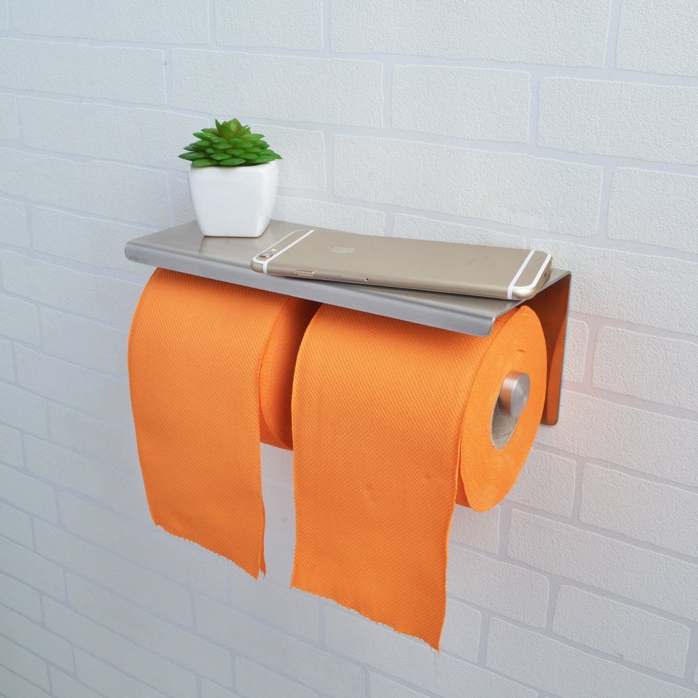 KES SUS  Stainless Steel Double Roll Toilet Paper Holder -  bathroom paper towel holder