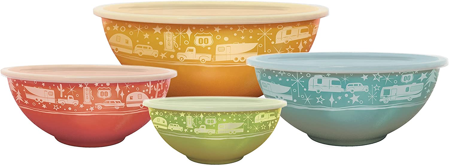 Camp Casual CC-006 Multicolor Nesting Bowl with Lids, Set of 4