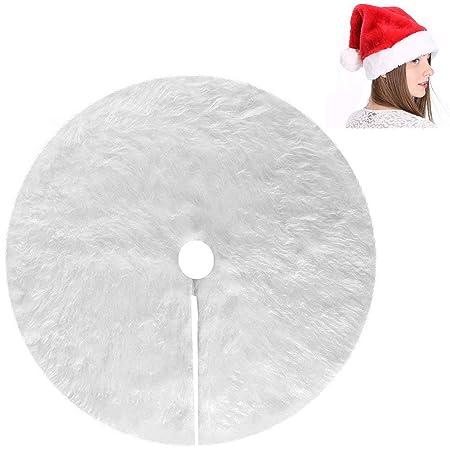 Myir Falda del Árbol de Navidad Blanco Felpa Delantal de ...