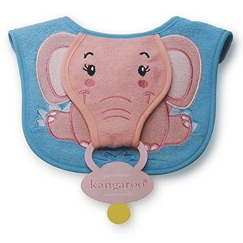 Amazon.com: Canguro B2122 bebé elefante babero con soporte ...