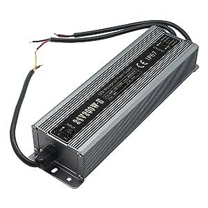 200 Watt Waterproof IP67 LED Power Supply Driver Transformer 110V AC 60Hz to 24V DC Low Voltage Output for Low Voltage Landscape Lighting Spotlight Outdoor