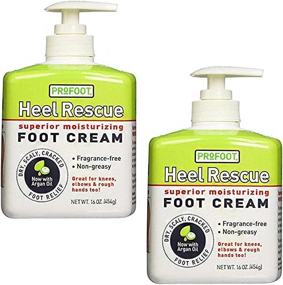 Profoot Care Heel Rescue Superior Moisturizing Foot Cream, 16 Oz (Pack of 2)