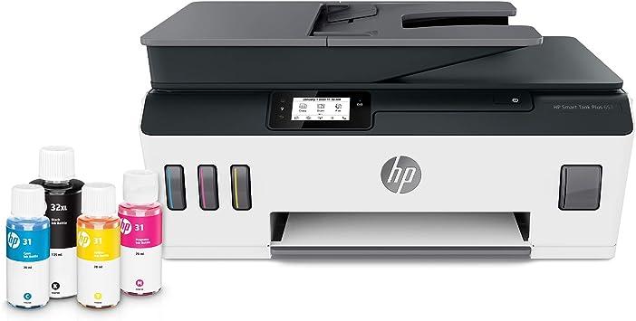 Hp Smart Tank Plus 651 Impresora De Tanque De Tinta Inalámbrica Todo En Uno Hasta 2 Años De Tinta En Botellas Alimentador Automático De Documentos Impresión Móvil Escaneo Copia Funciona Con