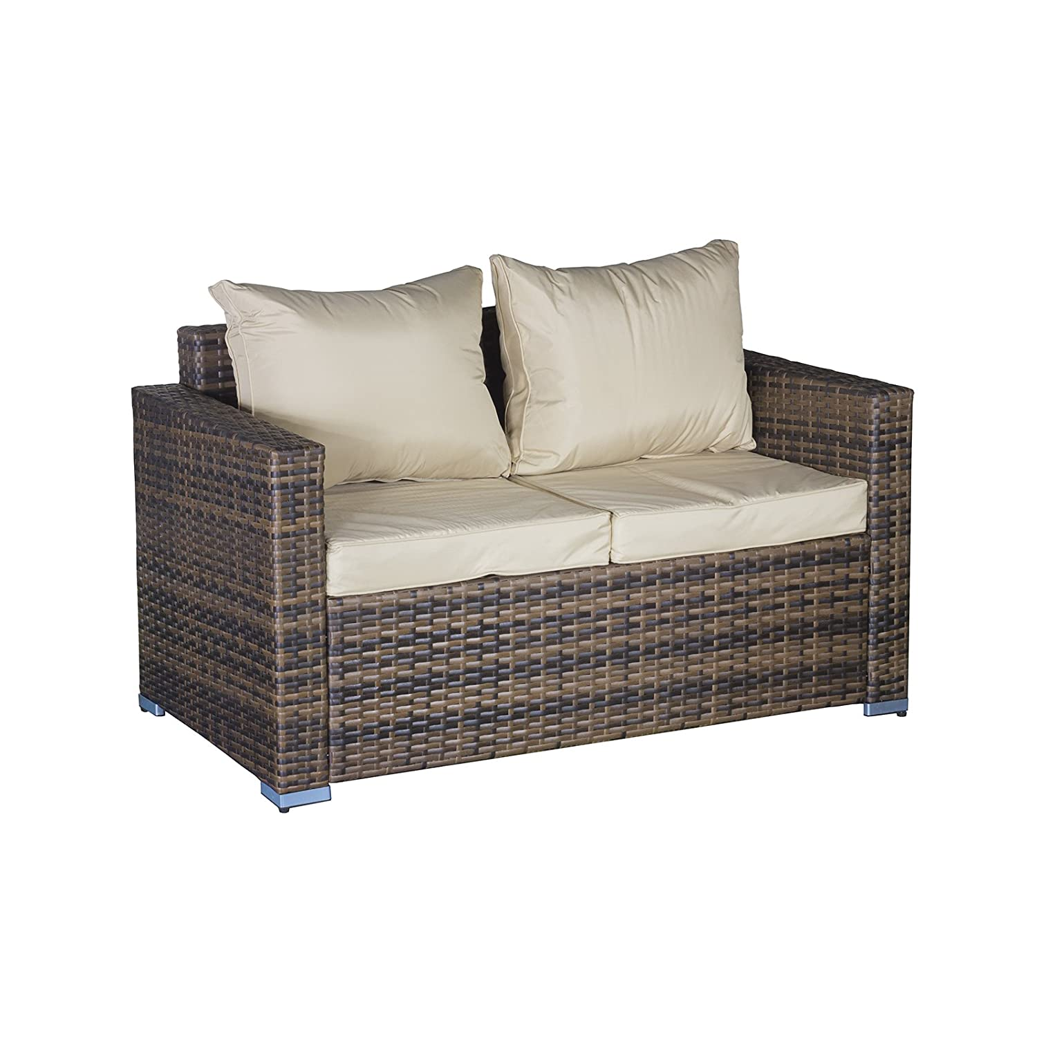 OseasonsR Oxford Modular 6 Seater Lounge Set With Coffee Table 2 Footstools Amazoncouk Garden Outdoors