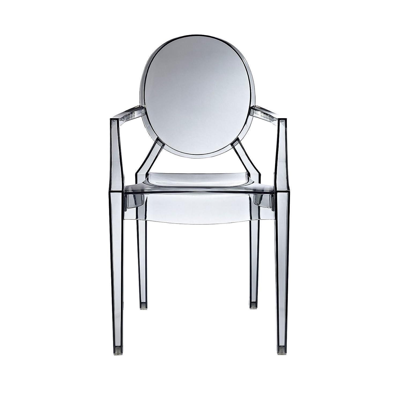 Amazoncom Design Tree Home Ghost Arm Chair Smoke Chairs