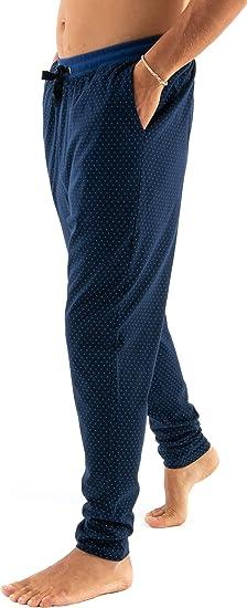 Mens Long Classic Checkered or Striped Pyjamas Bottoms 100/% Cotton Pyjamas Trousers Nightwear//Sleepwear for Gentlemen El B/úho Nocturno Poplin or Viyella Weave