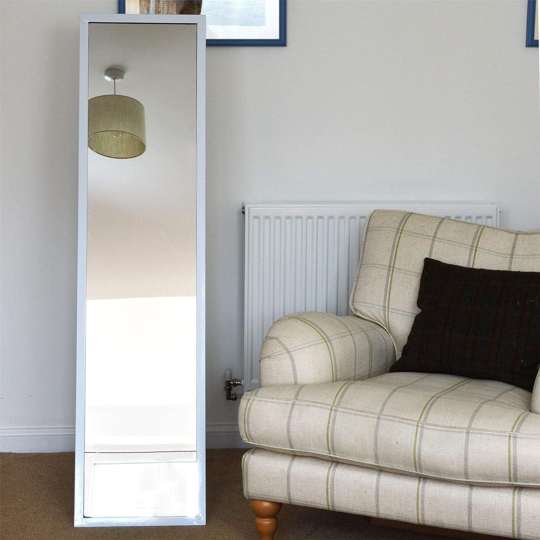 Blanc Harbour Housewares Miroir sur Pied rectangulaire