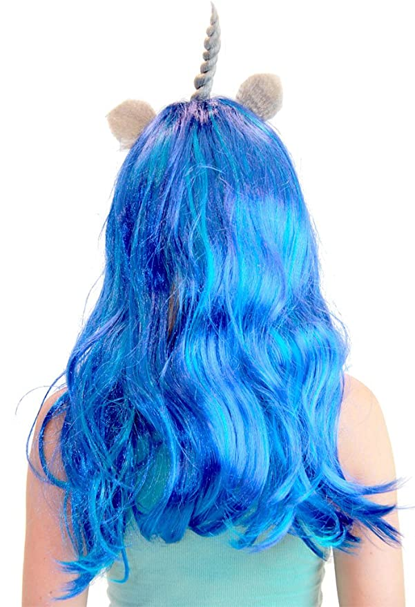 Amazon.com: My Little Pony Costume Wigs (Blue/Electric Blue/Brown/Grey (The DJ): Clothing