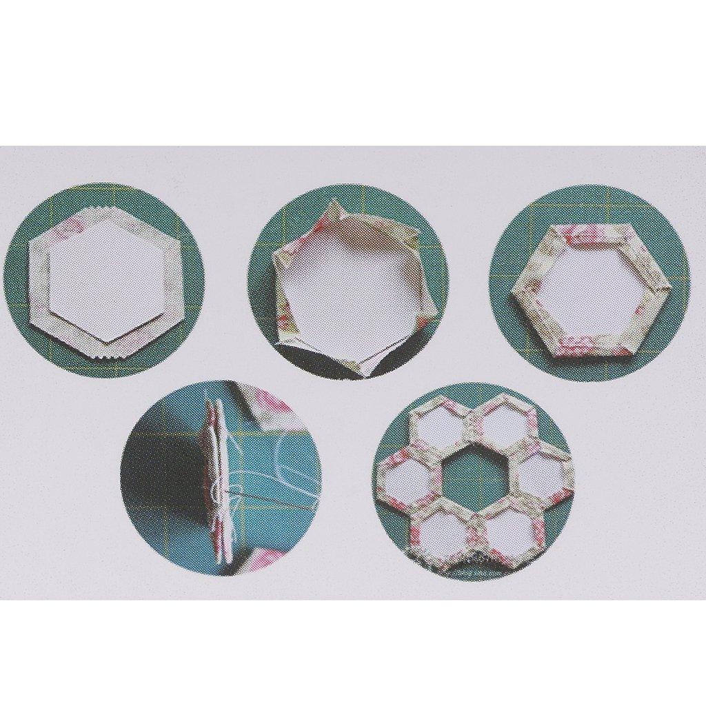 MagiDeal 200 Piece Hexagon Paper Quilting Templates English Paper ...