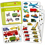 Cars and Trucks Stickers Party Supplies Pack Toddler -- Over 230 Stickers (Cars, Fire Trucks, Construction, Buses and More!)