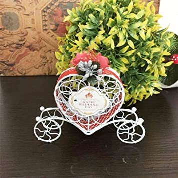 Boda Dulces Caramelos cajas regalo, Carroza Del Hierro Del Carro Del Bote de Candy de caja de regalo: Amazon.es: Hogar