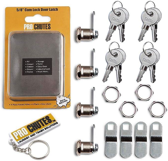 4 Pcs CamLock Cabinet Keyed Cam locks Keyed lock RV Door drawer With 4 Key