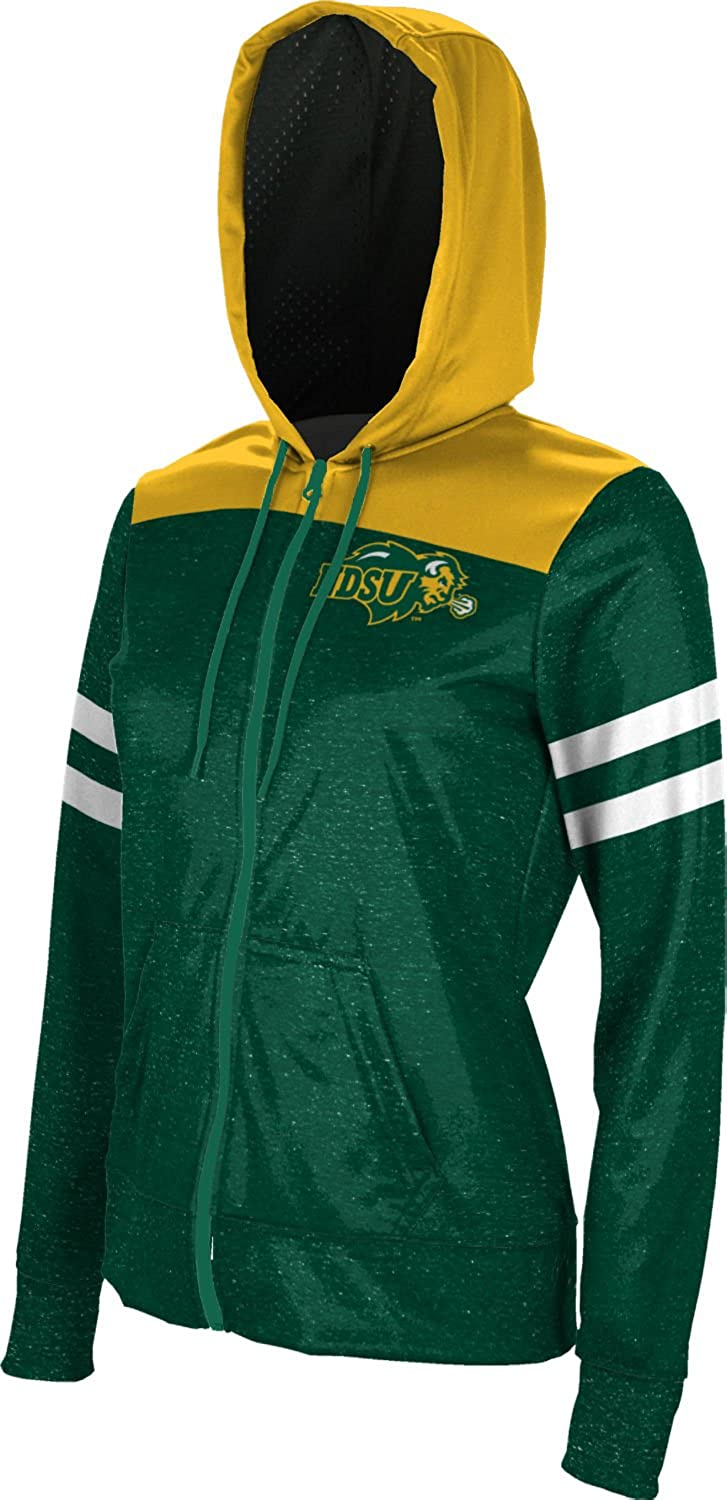 School Spirit Sweatshirt Game Time North Dakota State University Girls Zipper Hoodie