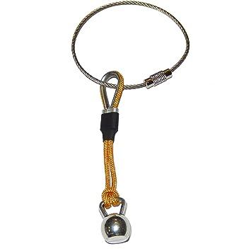 Llavero Kettlebell cordón Amarillo con guardacabos y ...