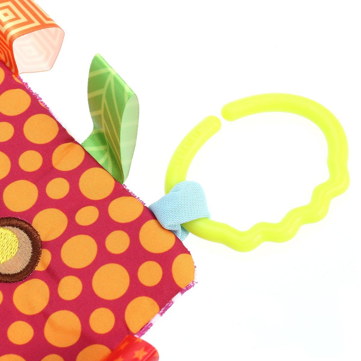Mariposa Manta de Seguridad para Bebes TOYMYTOY Juguetes Blandos con Sonajero para Ni/ños