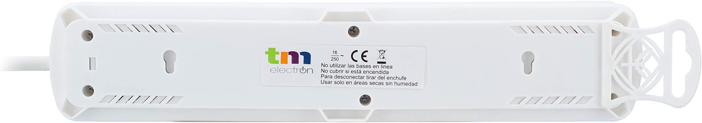 TM Electron TMUAD203WH - Base múltiple de 3 Tomas con Interruptor ...