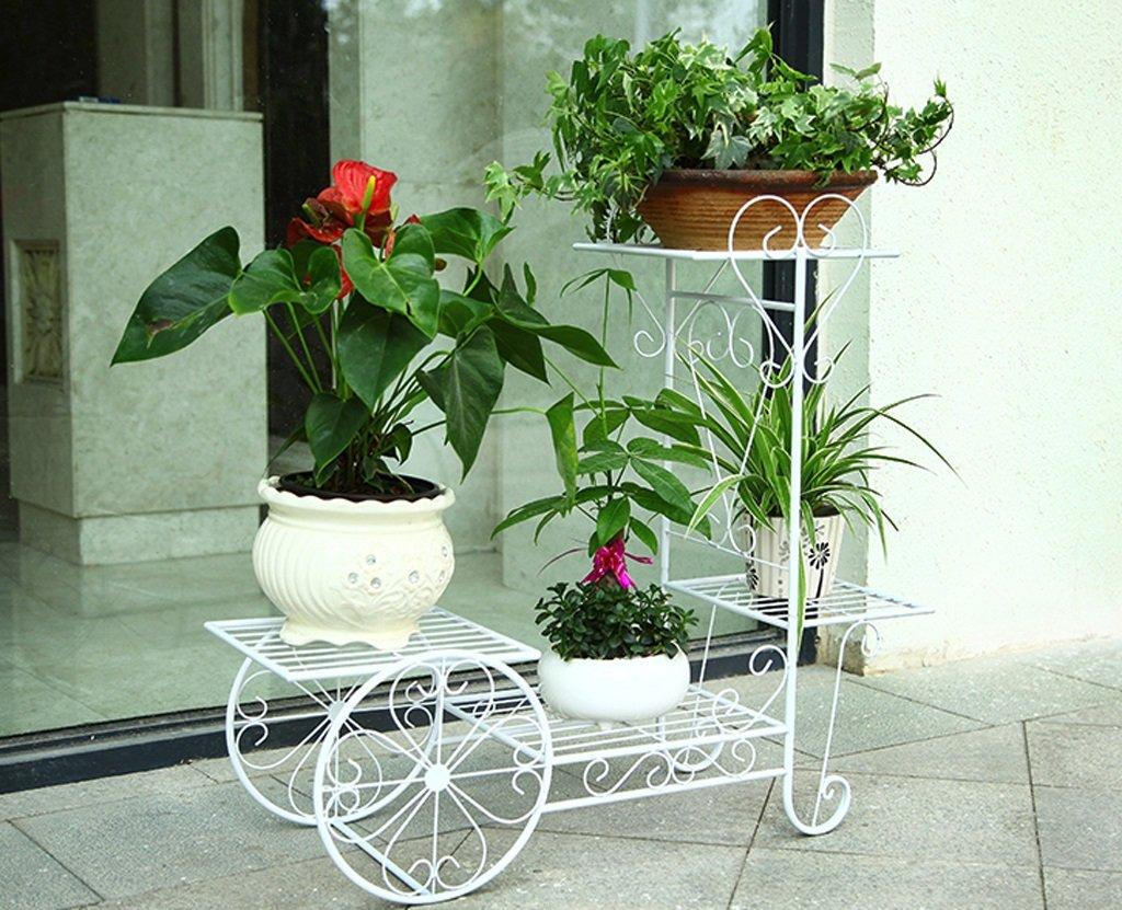 植物屋内花鍋ラック複数のレイヤーフラワーラック装飾的な金属スタンドバルコニーフロアポットシェルフFmultiカラーオプション ( 色 : 白 , サイズ さいず : 56*57cm ) B07568QP8C 56*57cm|白 白 56*57cm