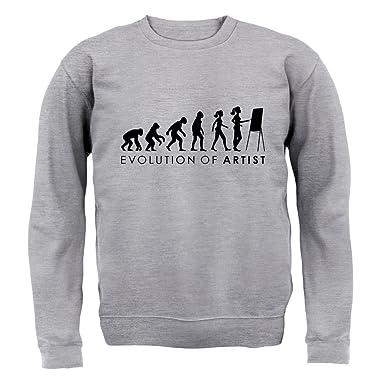 Evolution of Woman - Künstlerin - Kinder Pullover/Sweatshirt - Grau meliert  - L (