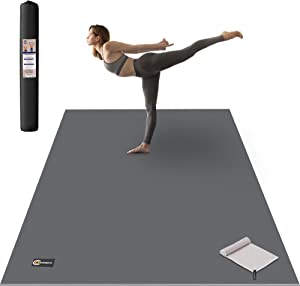 CAMBIVO Large Yoga Mat, Wide Exercise Mat 6'x 4'x 8 mm (72