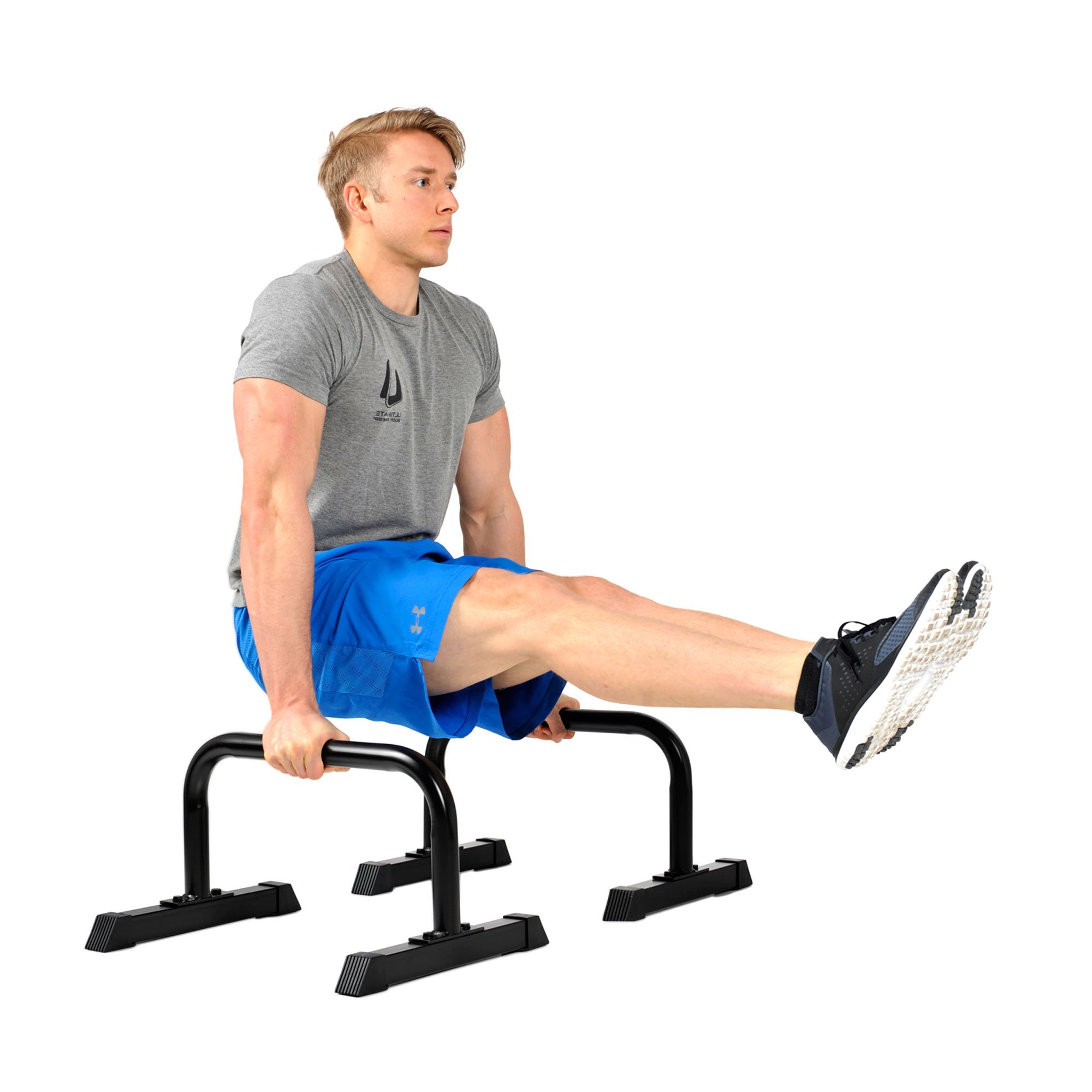 Ultimate Body Press Parallettes XL Push Up Stands 12x24 inch by Ultimate Body Press