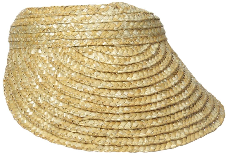 0cf8a023 San Diego Hat Company Women's 4-Inch Brim Wheat Straw Visor ...