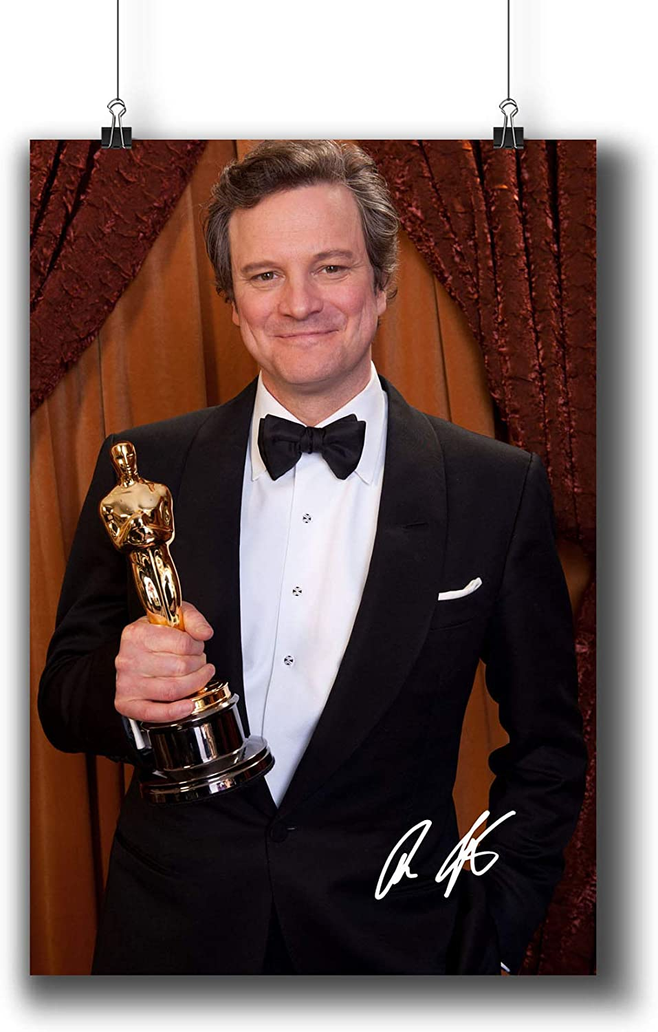 Colin Firth Actor Movie Photo Poster Prints 006-010 Reprint Signed,Wall Art Decor for Dorm Bedroom Living Room (A4|8x12inch|21x29cm)