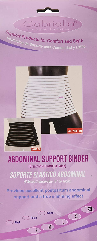 67a084e827936 Amazon.com  GABRIALLA AB-208(W) Breathable Abdominal Light Support Binder  (8