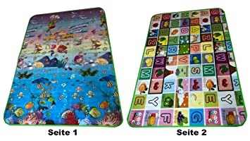/& Spielmatte Spielteppich Krabbeldecke Kindermatte Spiel Teppich Baby Spielteppich Lernteppich Krabbelmatte Picknickdecke Kinderzimmer Design 2 RHP Kinder Krabbel