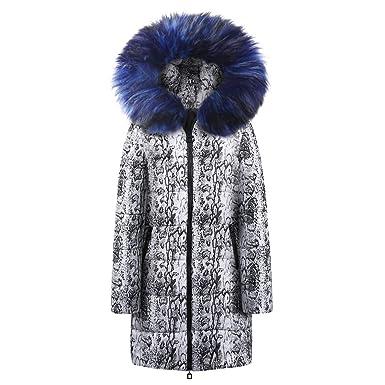 Damen Winterjacke Parka Schlangenmuster Lazzboy Jacke Mantel 0knOPw