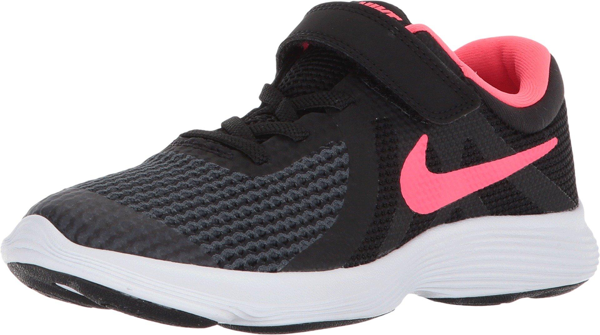 Nike Kids Revolution 4 (PSV) Black Racer Pink White Size 10.5