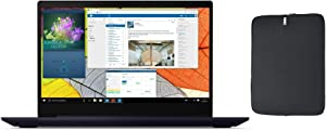 "Newest Lenovo IdeaPad S145 15.6"" HD Laptop PC, Intel Pentium Celeron 4205U Dual-Core Processor, 4GB RAM, 128GB SSD, Card Reader, Bluetooth, Windows 10 Home + Woov Laptop Sleeve Bundle, Blue"