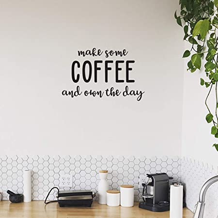 COFFEE is always a good idea vinyl wall art QUOTE sticker dining food kitchen