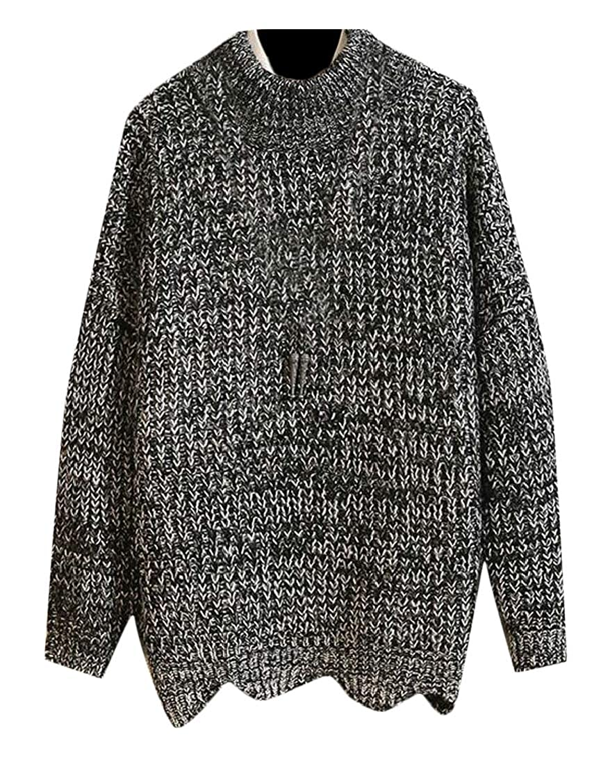 Generic Mens Fashion Crew Neck Long Sleeve Knitted Pullover Sweater