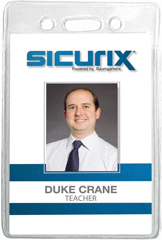 "x 2 12//Pack Sicurix Vertical Badge Holder 2 1//2"" x 3 1//2"" Clear"