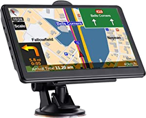 GPS Navigation for Car Truck, Latest 2021 Map Touchscreen 7 Inch 8G 256MB Navigation System with Voice Guidance and Speed ??Camera Warning, Lifetime Free Map Update