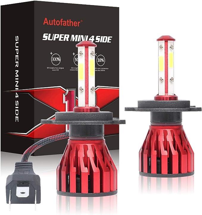Par de bombillas LED H1 para faros delanteros de coche DRL, 6000 K ...
