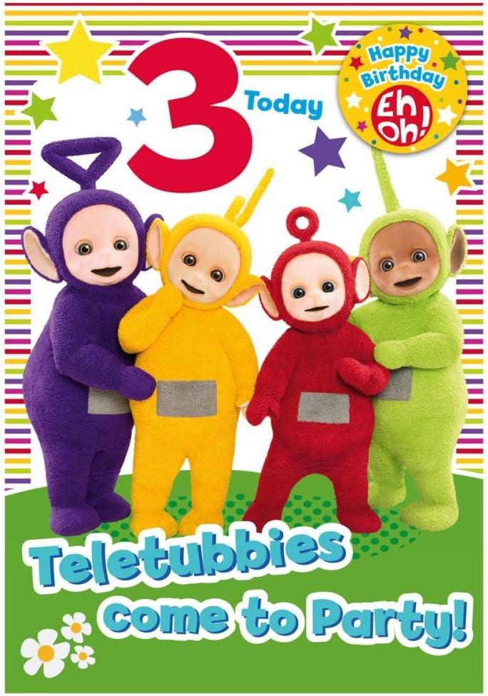 Teletubbies 3 Años Tarjeta Cumpleaños: Amazon.es: Juguetes y juegos