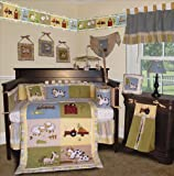 SISI Baby Boy Boutique - On the Farm 13 PCS Crib Bedding