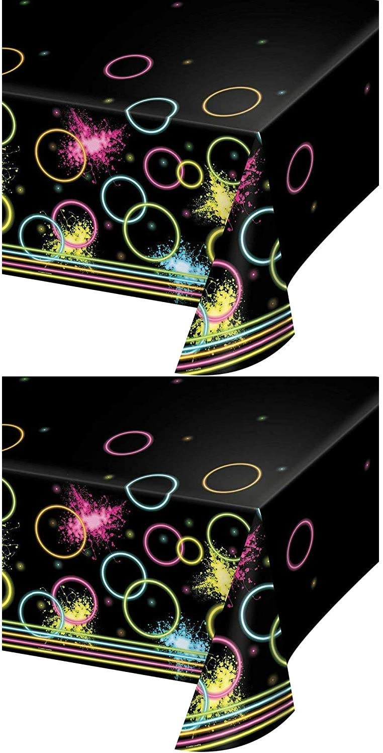 Amazon.com: Glow Party - Fundas de mesa (2 unidades ...