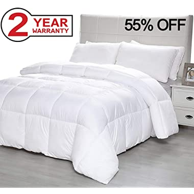 Down Alternative Comforter with Corner Tabs, Plush Microfiber Fill Duvet Insert Lightweight for All Season, Premium Hotel Quality - Machine Washable by The Duck and Goose Co - King