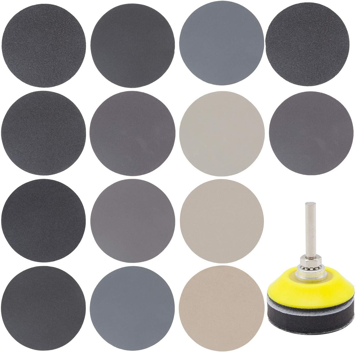 100Pcs 4 Inch Round Sandpaper 40 ~ 2000# Grit Buffing Polishing Abrasive Tools