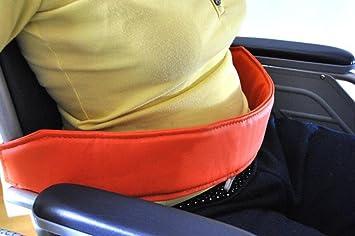 XYLUCKY Cinturón de sujeción para barandas Cinturón / demencia senil Cinturón de seguridad para silla de ruedas para pacientes / naranja, 60cm de largo: ...