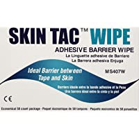"(1 Pack) - Torbot Group Inc Skin Tac""H"" Adhesive Barrier Prep Wipe, Liquid Form, Latex-free, Hypo-allergenic (Box of 50…"