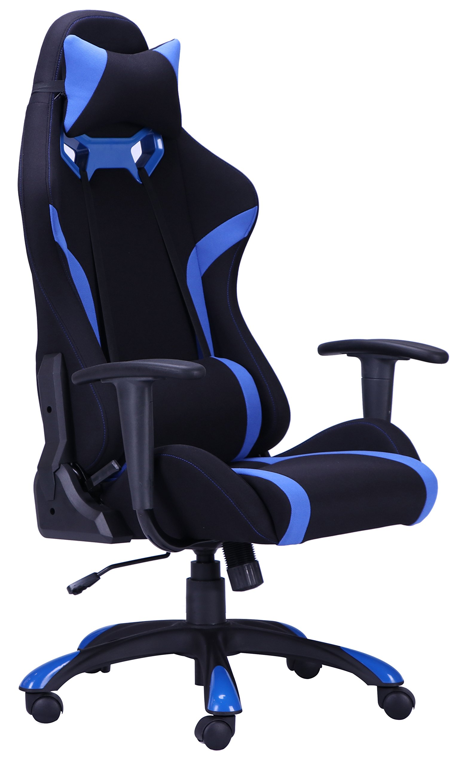 PayLessHere Blue High Back Recliner Office Chair Computer Racing Gaming Chair by PayLessHere