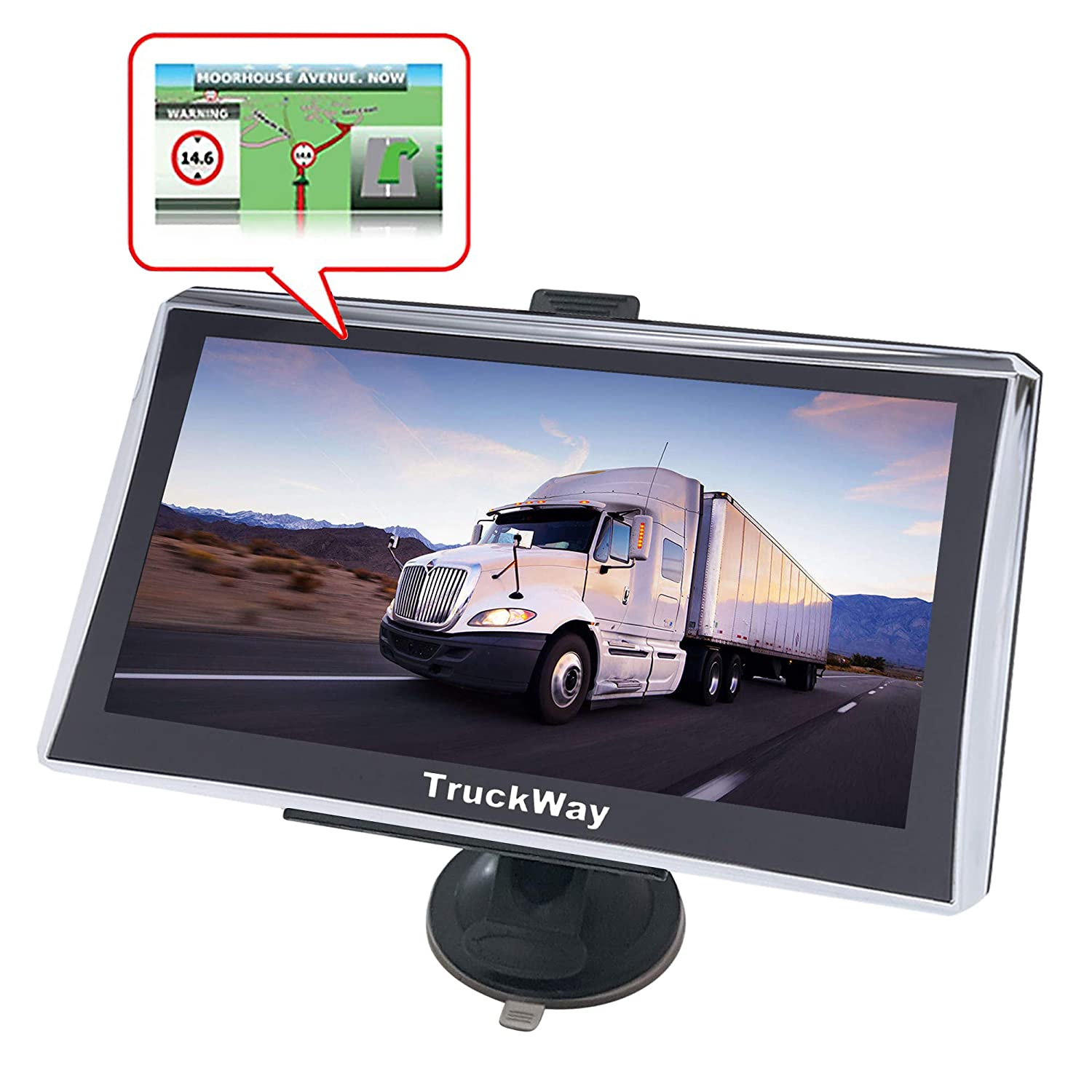 Turn by Turn Directions Pro Series 720 Truck GPS 7 Inch for Truck Drivers Navigation Lifetime North America Maps USA + Canada TruckWay GPS Pro Series Model 720 3D /& 2D Maps Touch Screen