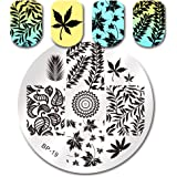 Born Pretty Nail Art Stamping Template Leaves Theme Image Plate BP19