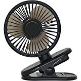 Atopov USB Desk Fan Clip on Fan 3 Speeds Fast Air Circulating Table Mini Fan, 2500mAh Rechargeable Battery, Hook at the botto