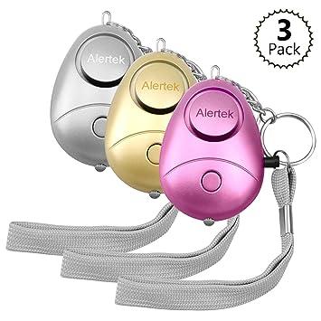 Alertek - Juego de 3 Unidades de 130 dB de Alarma Personal ...