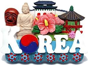 KOREA Fridge Magnet 3D Souvinir SEOUL BUSAN JEJU Handmade Craft Gift Refrigerator Magnets Rubber Epoxy Magnetic for Decoration